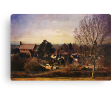 A view to St Barnabas (Worcester) Canvas Print