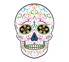Day of the Dead Sugar Skull - Bright Multi Color Photographic Print