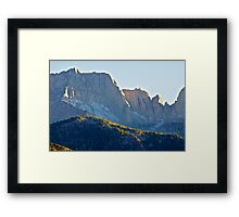 Jagged Mountain Peaks Framed Print