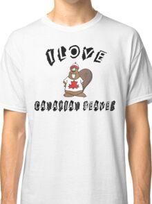 I Love Canadian Beaver Classic T-Shirt