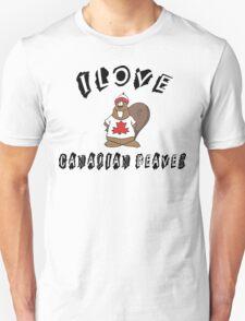 I Love Canadian Beaver Unisex T-Shirt