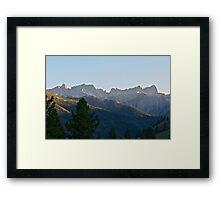 Jagged Mountain Peaks II Framed Print
