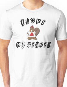 I Love My Beaver Unisex T-Shirt