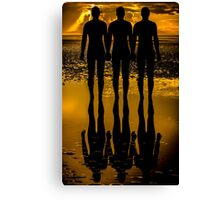 Three Iron Men Canvas Print