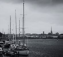 City over the Docks - Preston by Simon Osbaldeston