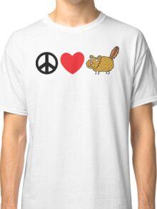 Peace Love Beaver Classic T-Shirt