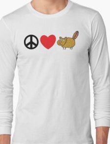 Peace Love Beaver Long Sleeve T-Shirt