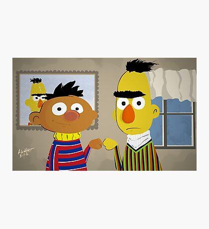 Bert and Ernie Photographic Print