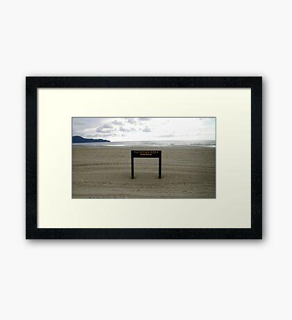 Swimming Zone Framed Print
