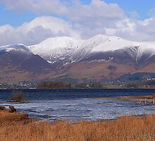Snow Capped Skiddaw at Keswick. by Lilian Marshall