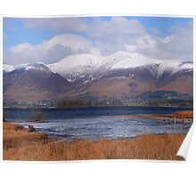 Snow Capped Skiddaw at Keswick. Poster