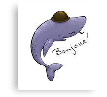 Monsieur Blue Whale is quite a gentleman Canvas Print