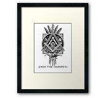 """Since Time Immemorial"" Masonic shirt Framed Print"