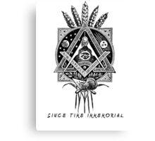 """Since Time Immemorial"" Masonic shirt Canvas Print"