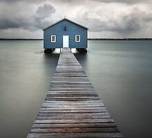 Swan River Blue Boat House by Wayne Eddy Photography