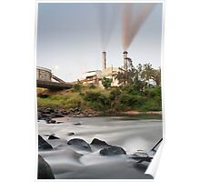 South Johnstone Sugar Mill and River - Portrait Poster