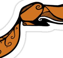 Sleeping Red Fox Sticker
