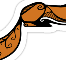 Sleeping Red Fox Sticker