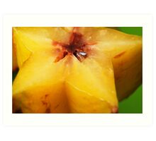 Up Close with Star Fruit Art Print