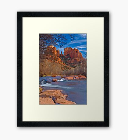 Sedona Oak Creek, Cathedral Rocks Framed Print