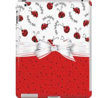 Ladybug Red And White iPad Case/Skin