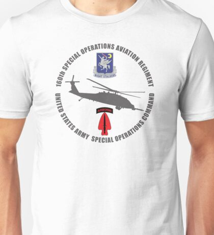 160th SOAR Black Hawk Unisex T-Shirt