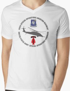160th SOAR Black Hawk Mens V-Neck T-Shirt