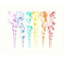 Rainbow Smoke 2 Art Print