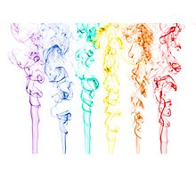 Rainbow Smoke 2 Photographic Print