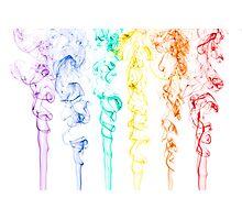 Rainbow Smoke 2 Photographic Print