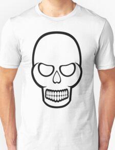 Plain White Skull Unisex T-Shirt
