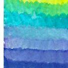 cool tone watercolor gradient by novillust