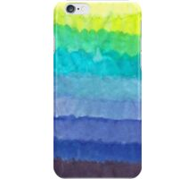 cool tone watercolor gradient iPhone Case/Skin