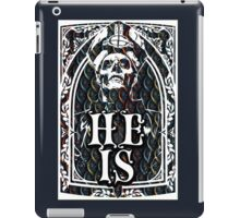 STAINED GLASS - HE IS iPad Case/Skin