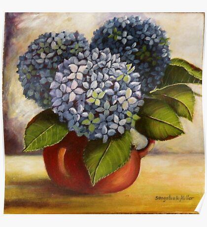 Blue Hydrangeas Sold Poster