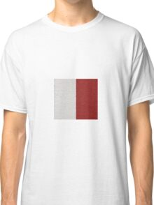 Red and White Bands Classic T-Shirt