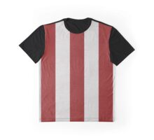 Red and White Bands Graphic T-Shirt