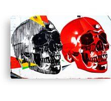 Double Skulls Graffiti - Miami Street Art Canvas Print