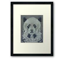 Panda in the Water Framed Print