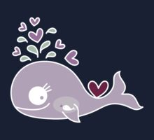 Whimsical Cute Magenta Purple Pregnant Whale Kids Clothes