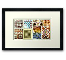 Antique tiles Framed Print