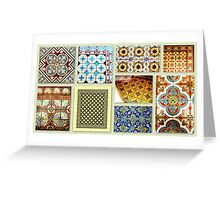 Antique tiles Greeting Card