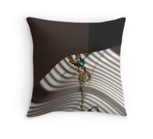 Beads and Lines Throw Pillow