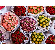 Hong Kong Flower Market Photographic Print