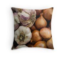 Garlic & Onions Throw Pillow