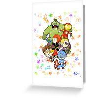 Babie Avengers Greeting Card