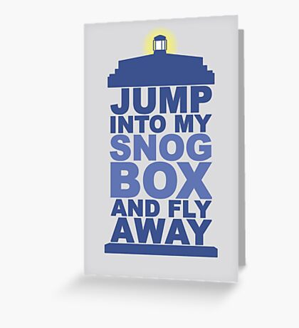 Snog Box (Tardis) Greeting Card