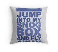Snog Box (Tardis) Throw Pillow