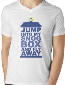 Snog Box (Tardis) Mens V-Neck T-Shirt