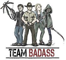 Team badass the walking dead by TinkyWonkie